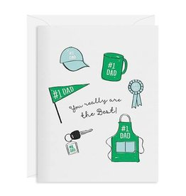 INCLOSED LETTERPRESS CO Really The Best Dad Card
