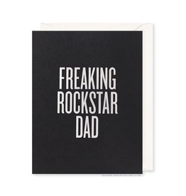 READ BETWEEN THE LINES Freaking Rockstar Dad Card