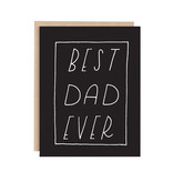 WHIMSY AND WILD Best Dad Ever Black Card