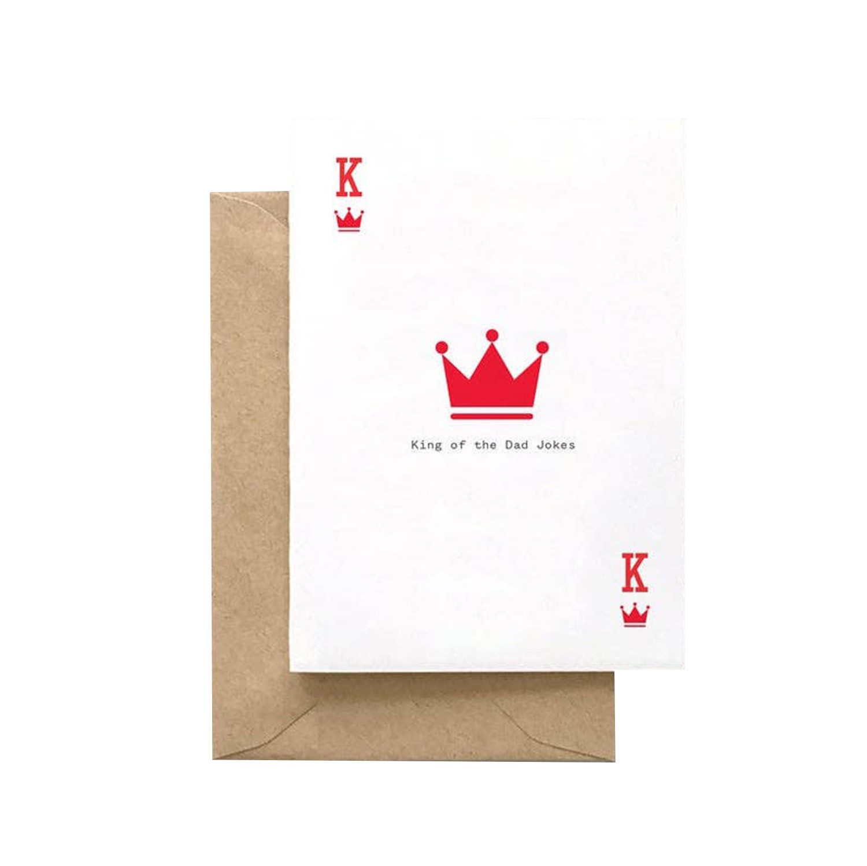 SPAGHETTI & MEATBALLS King of Dad Jokes Card