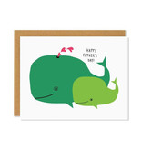 BADGER & BURKE Father's Day Whale Card