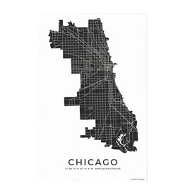 PIECES ON PAPER Chicago Art Print