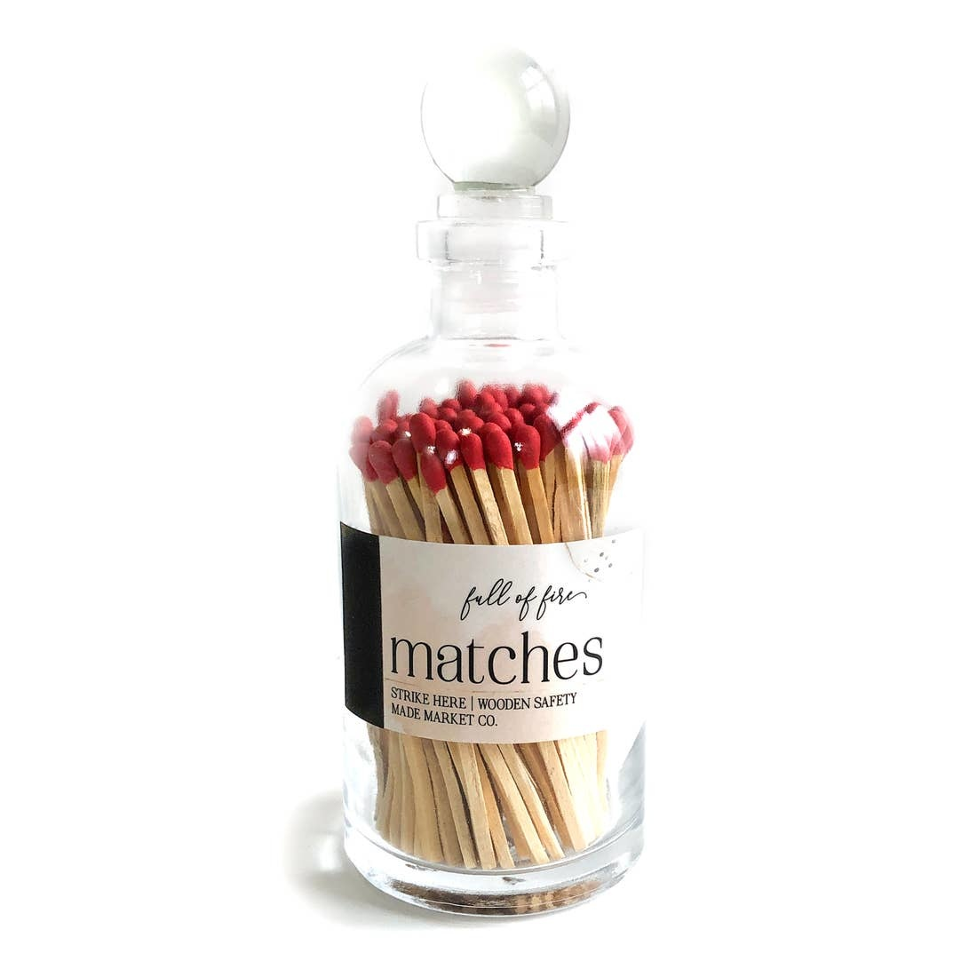 MADE MARKET CO Glass Match Jar