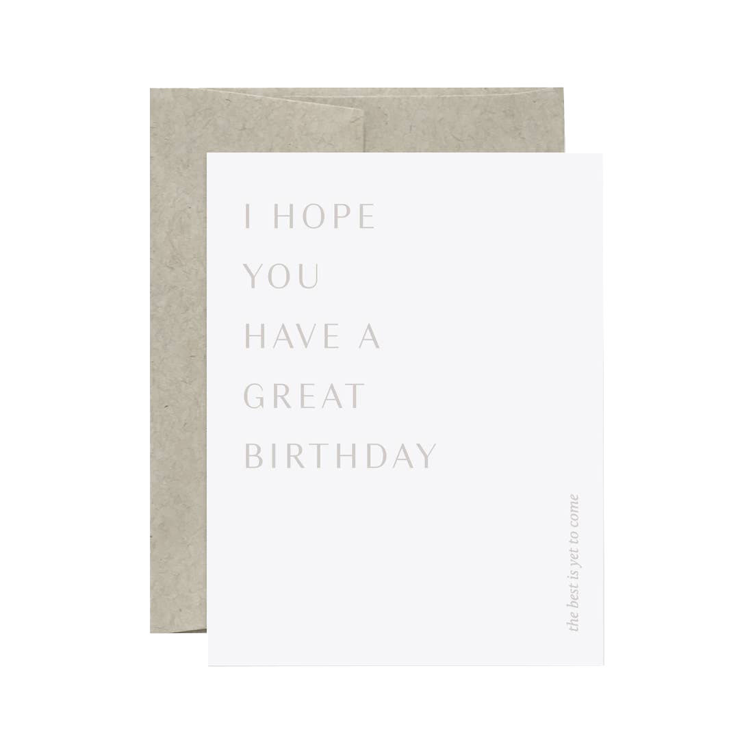 EVERMORE PAPER Great Birthday Card