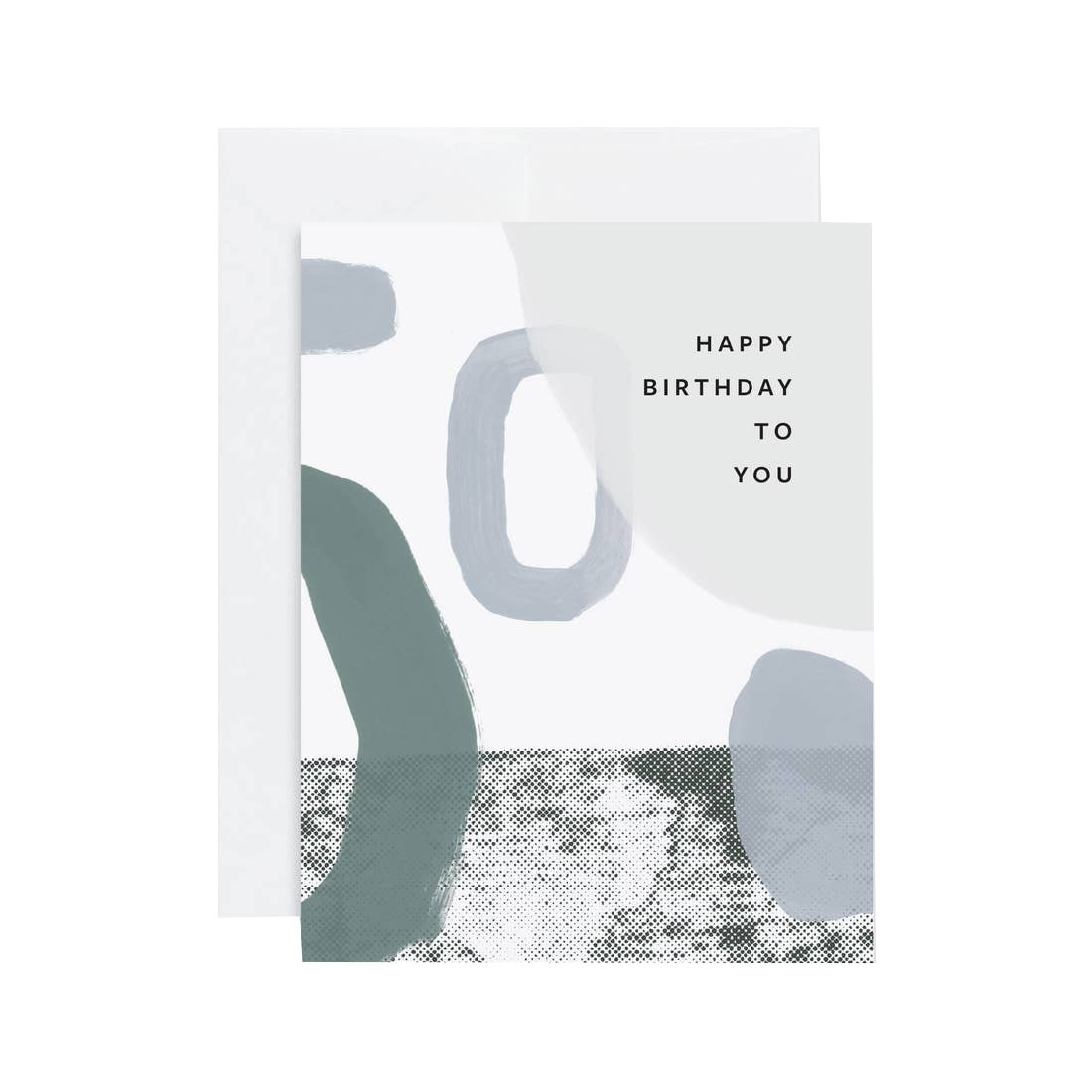 EVERMORE PAPER HBD Abstract Blue Card