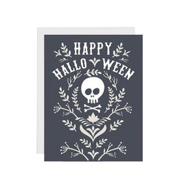 FRANKIE & CLAUDE Halloween Floral Skull Card