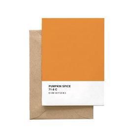 SPAGHETTI & MEATBALLS Pumpkin Spice Pantone Card