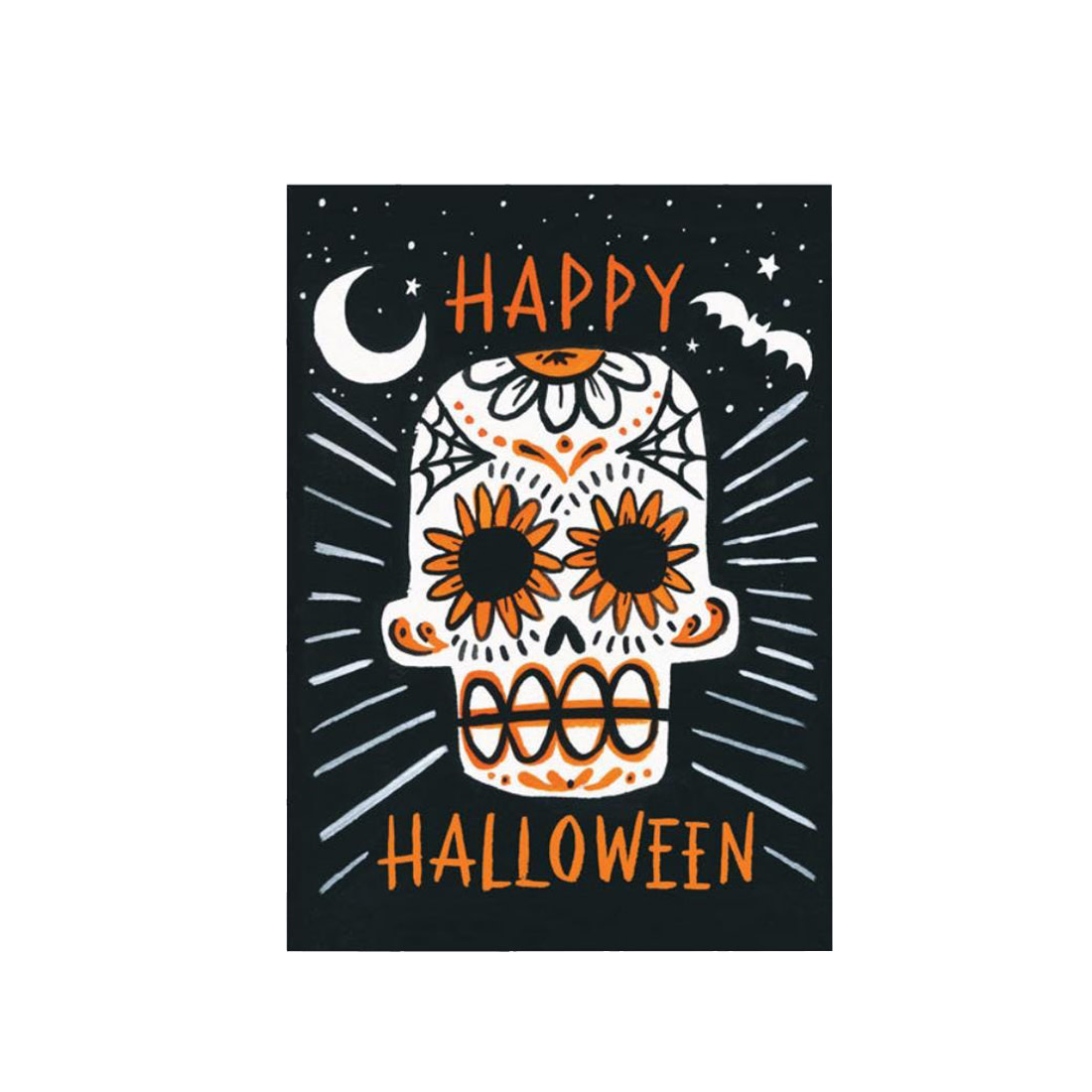 IDLEWILD CO Halloween Sugar Skull Card