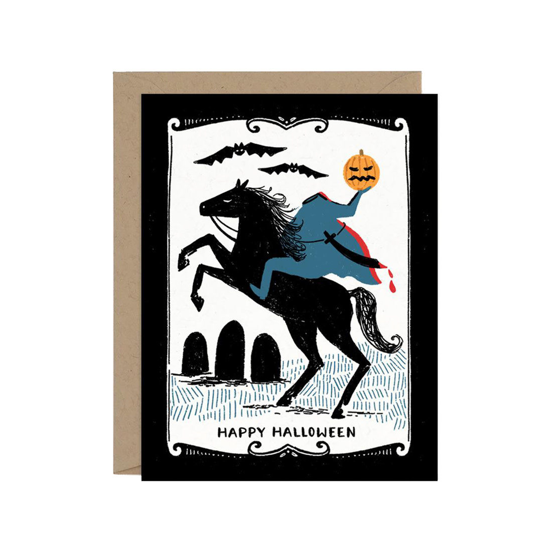 PAPER PONY CO Headless Horseman Card
