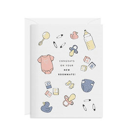 INCLOSED LETTERPRESS CO Congrats New Roommate Card