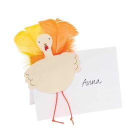 MERI MERI Feather Turkey Place Cards