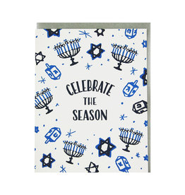 SMUDGE INK Celebrate Hanukkah Card