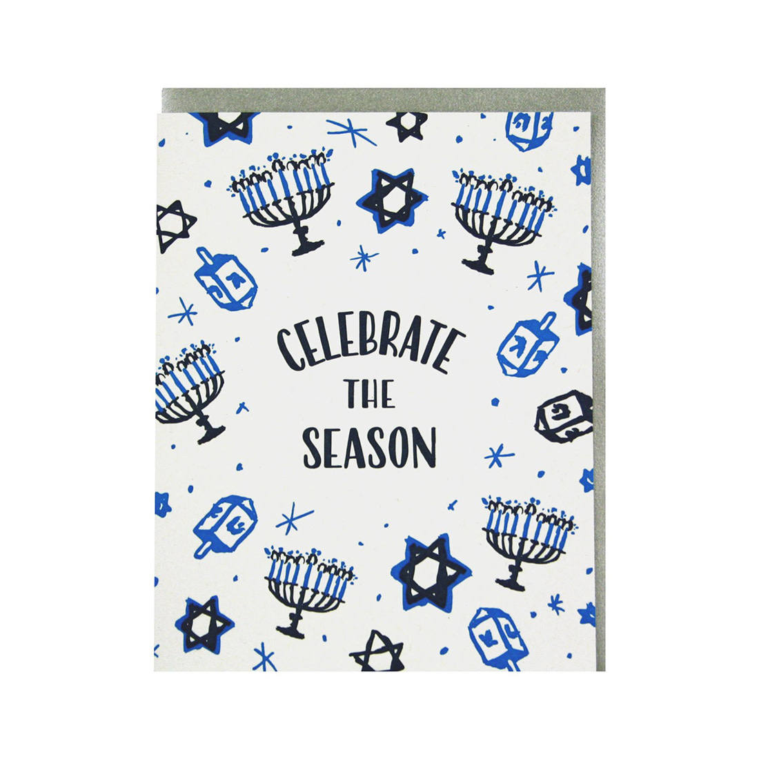 SMUDGE INK Celebrate Hanukkah Card
