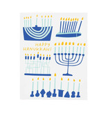 GOOD TWIN Happy Hanukkah Menorahs Card