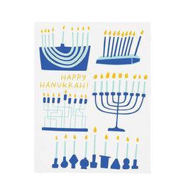 GOOD TWIN Happy Hanukkah Menorahs Card