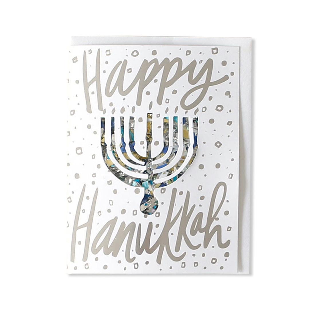 THIMBLEPRESS Hanukkah Confetti Card