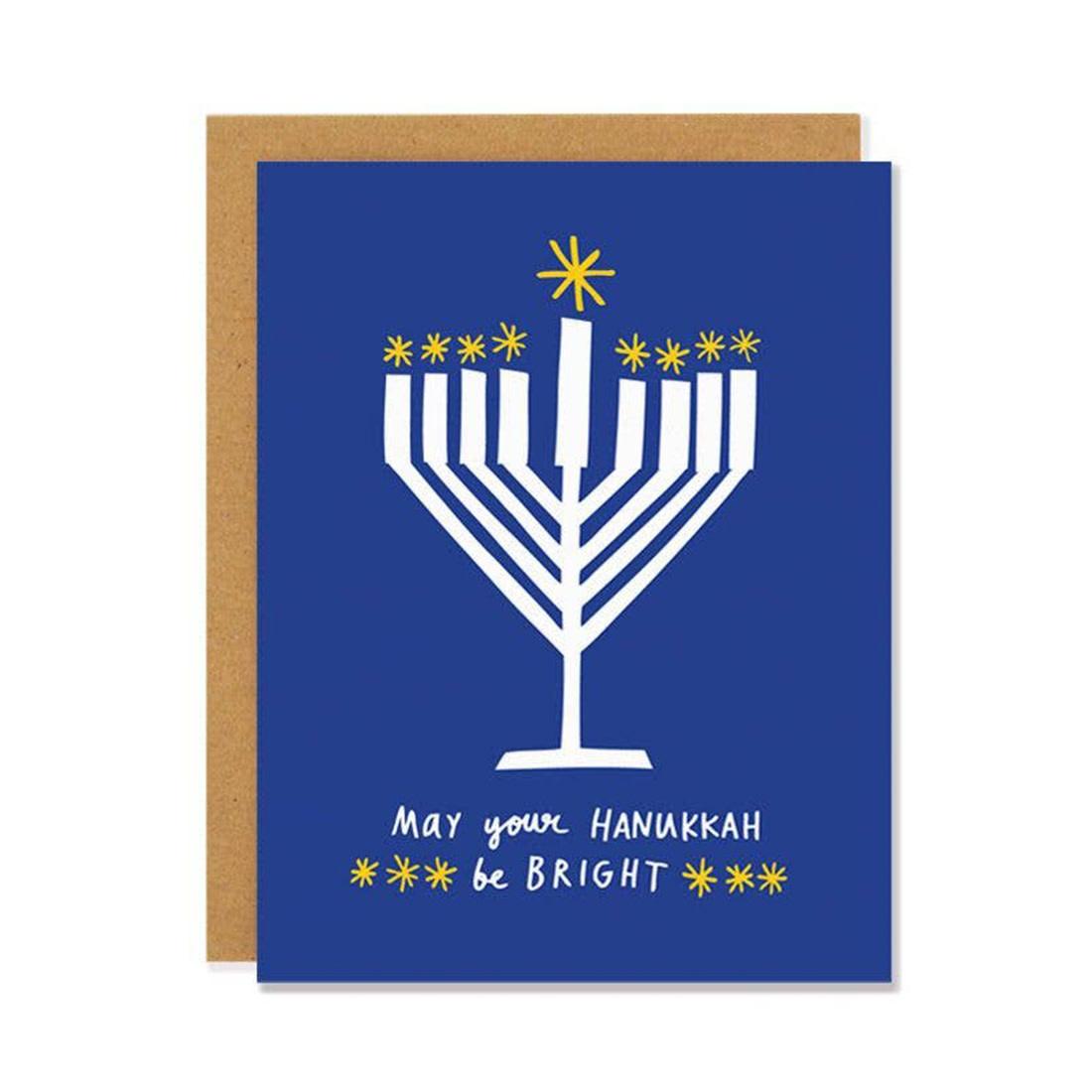 BADGER & BURKE Hanukkah Be Bright Card