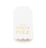 SUGAR PAPER North Pole Gift Tags