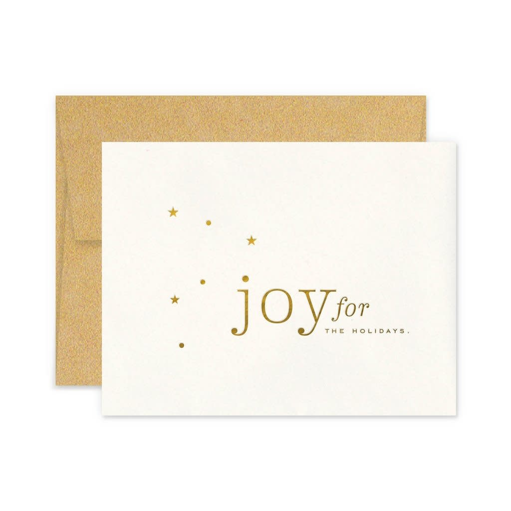 SMITTEN ON PAPER Joy Holiday Card
