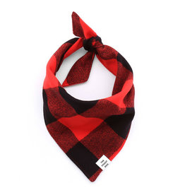 THE FOGGY DOG Red Check Dog Bandana
