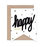 DAYDREAM PRINTS Happy Holidays Flag Card