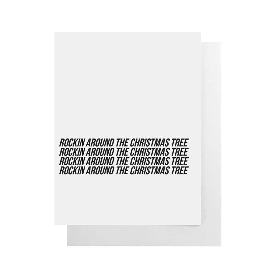 CULT PAPER Rockin Around Xmas Tree Card