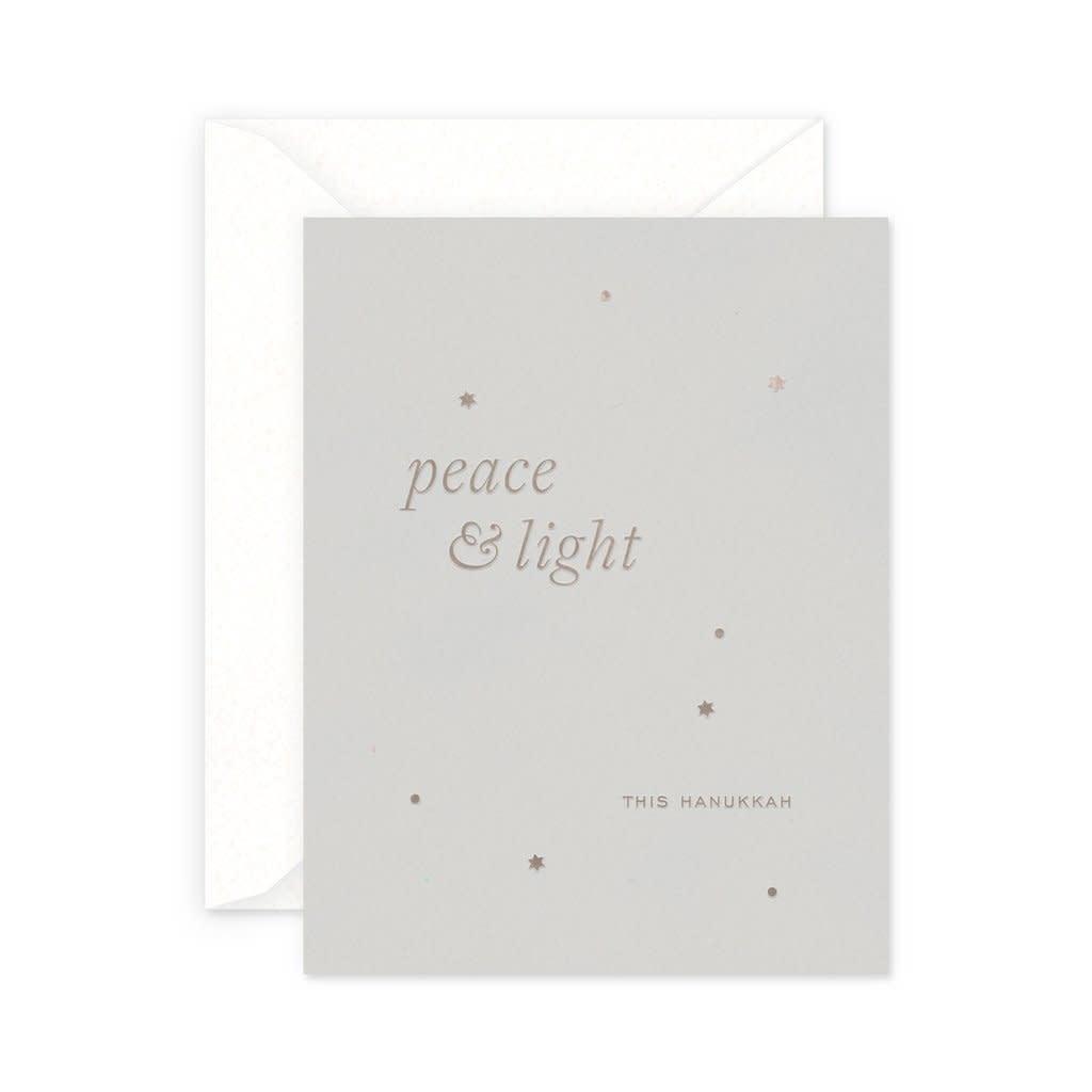 SMITTEN ON PAPER Peace & Light Hanukkah Card