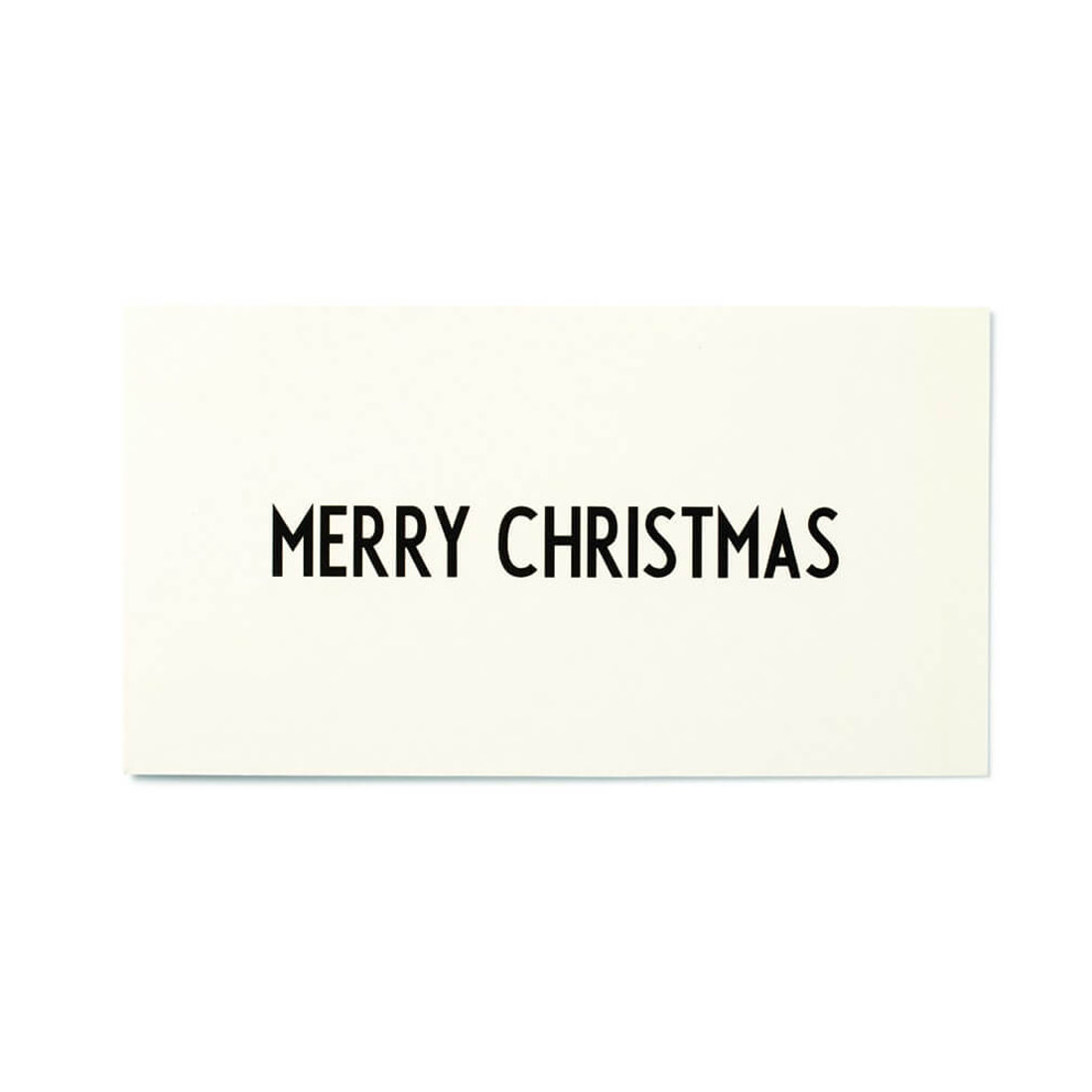 DESIGN LETTERS Merry Xmas Long Card