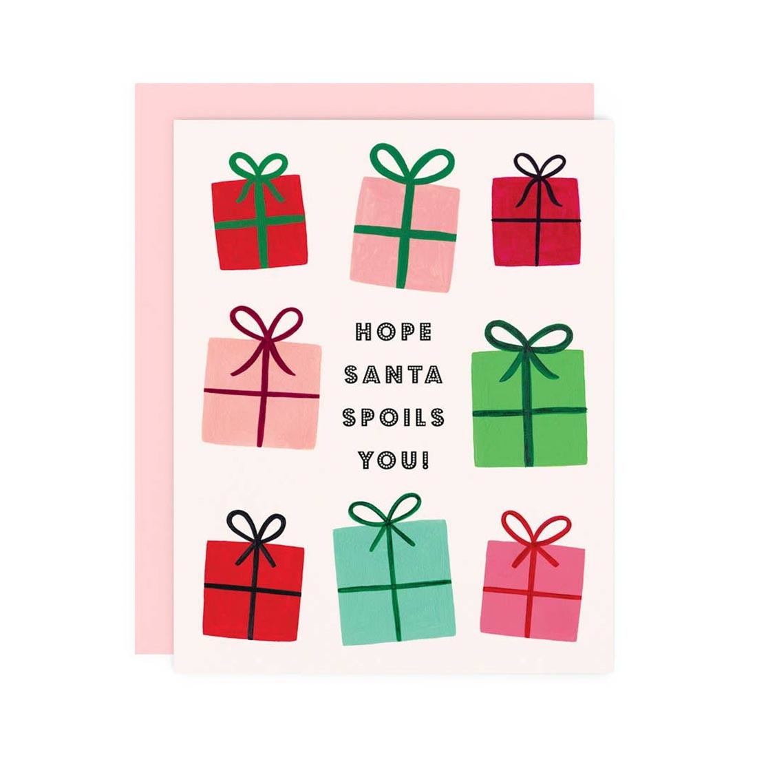 GIRL WITH KNIFE Hope Santa Spoils You Card