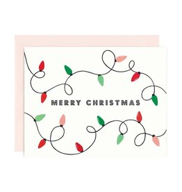 GIRL WITH KNIFE Xmas String Lights Card