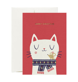 CARD NEST Xmas Cat & Mouse Card