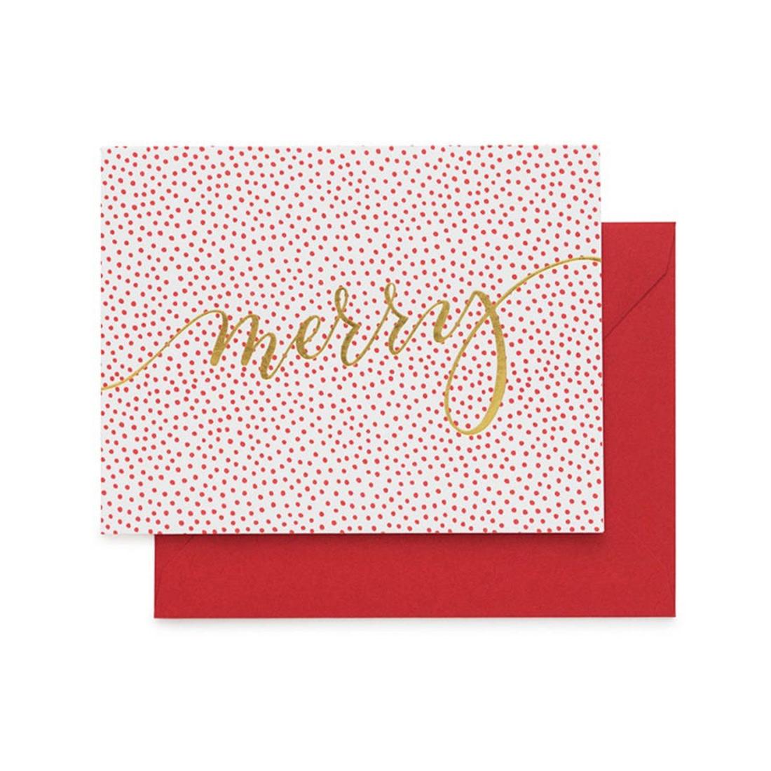 SUGAR PAPER Merry Dotty Card