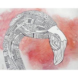 Flamingo- 5 x 7 Giclee