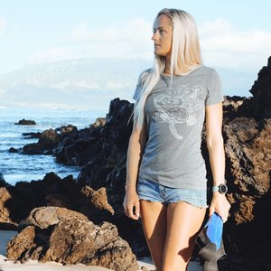 Sea Turtle (Grey)- Ladies Tee