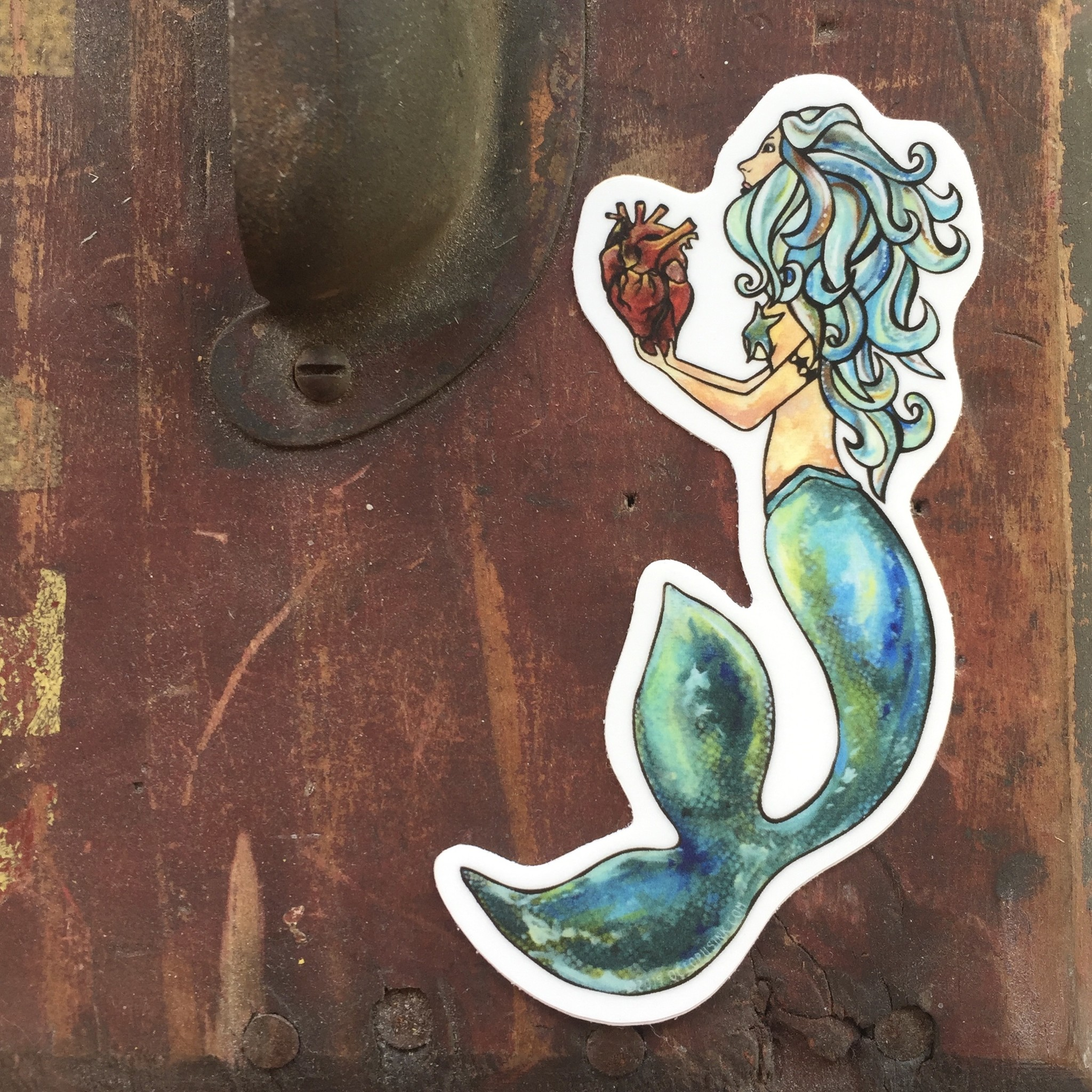 Mermaid's Heart- Mini Decal