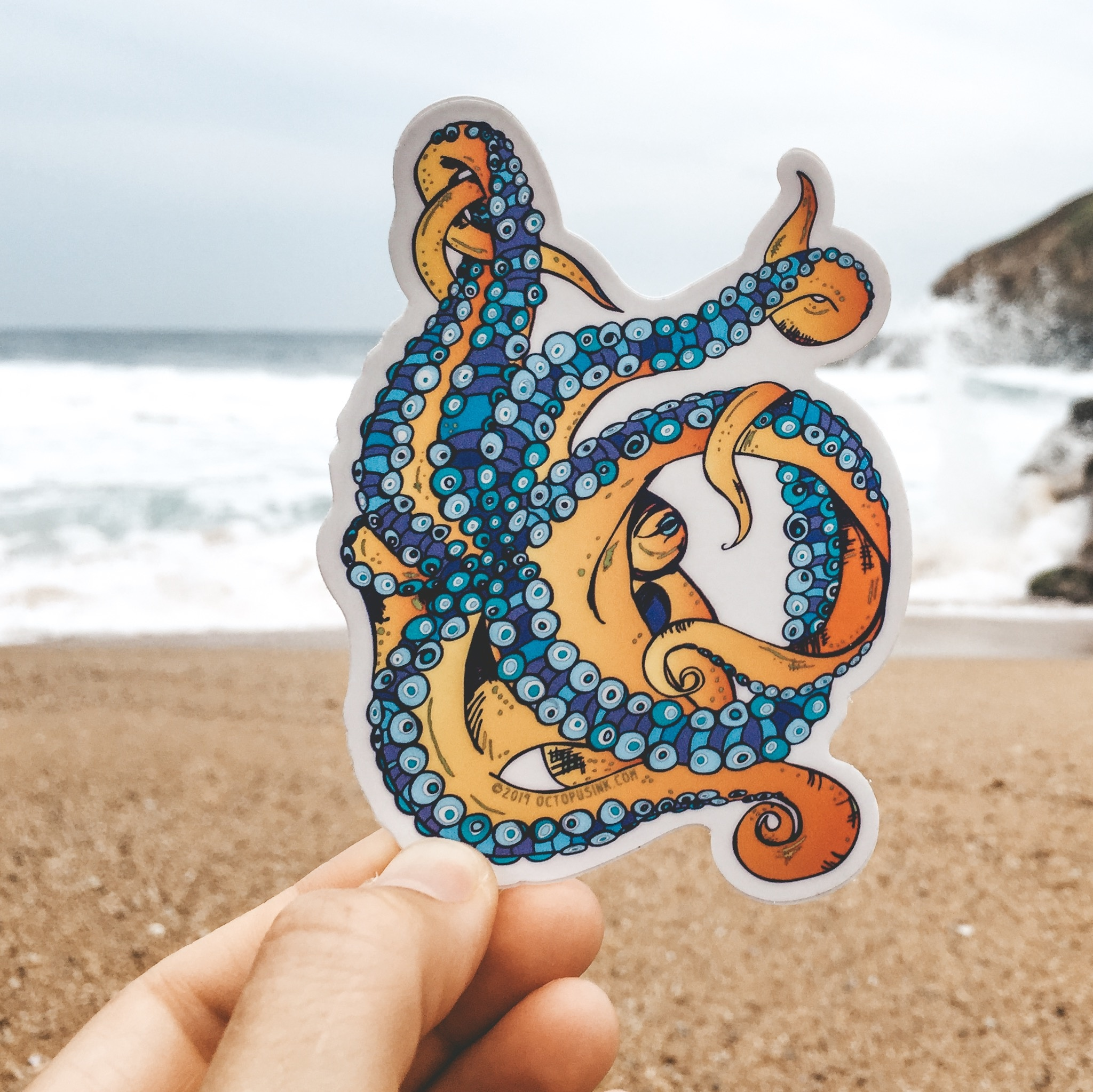 Tentacle- Decal Rainbow