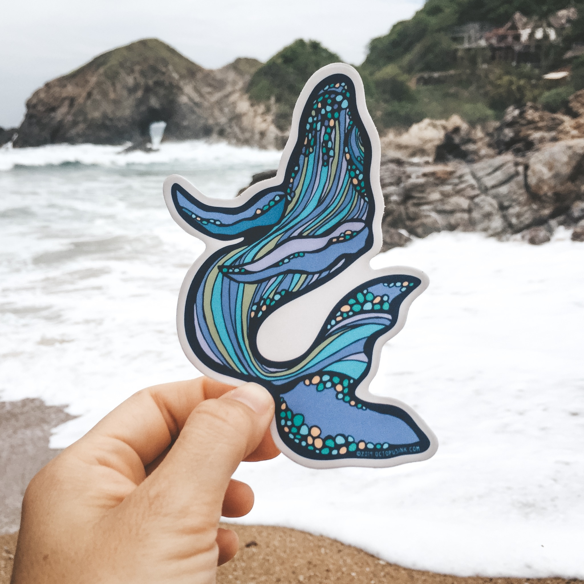 Happy Whale- Decal