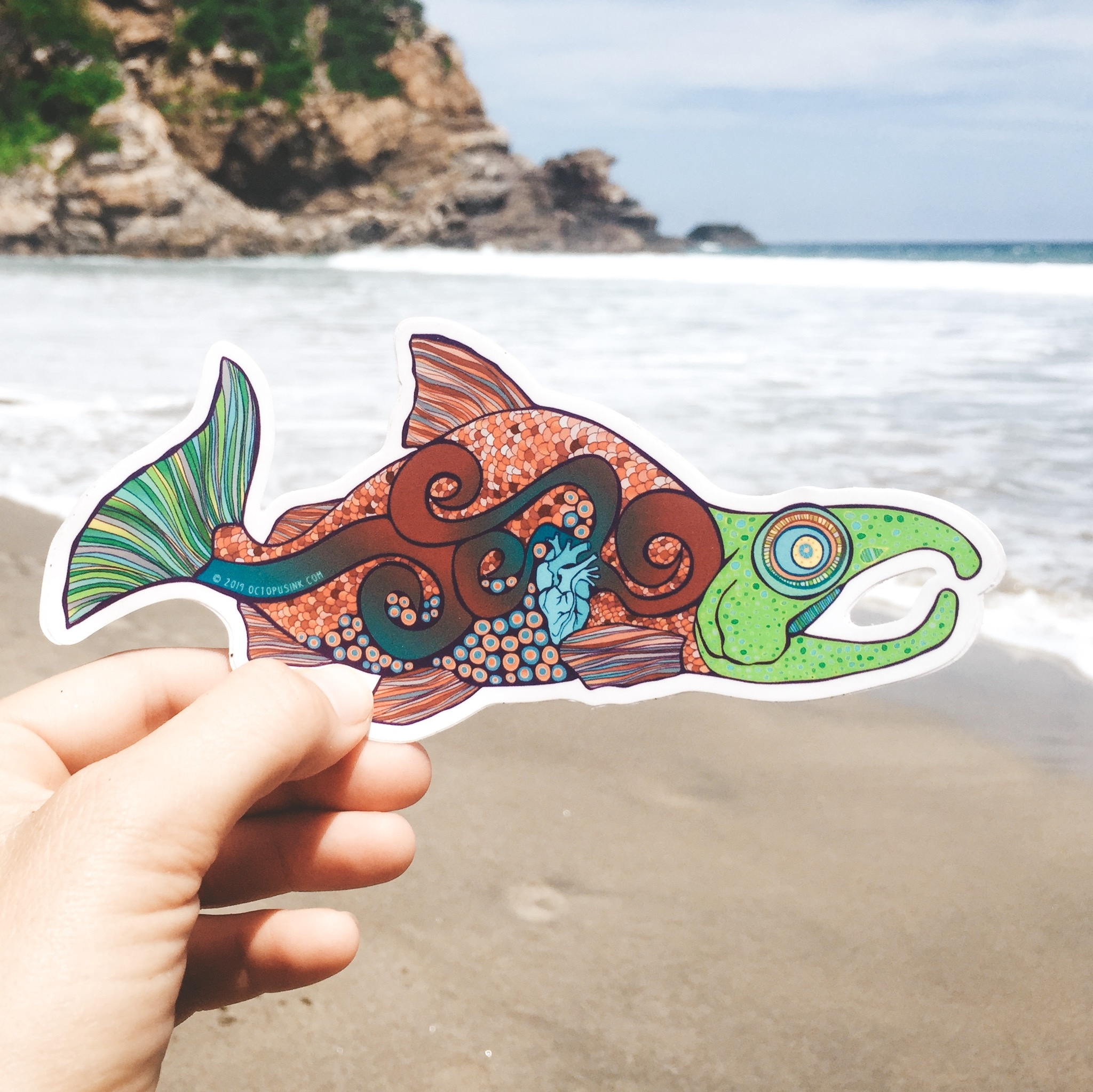 Salmon- Decal