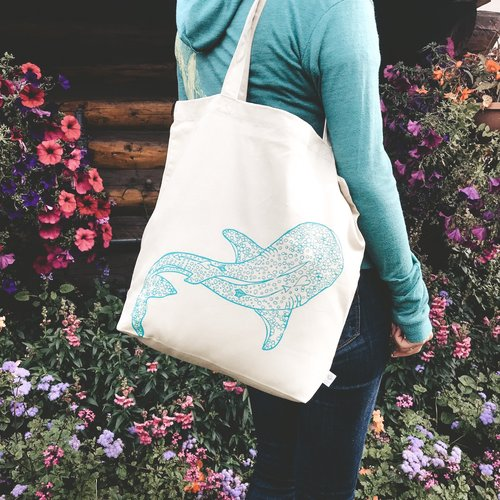 Whale Shark (Natural)- Tote