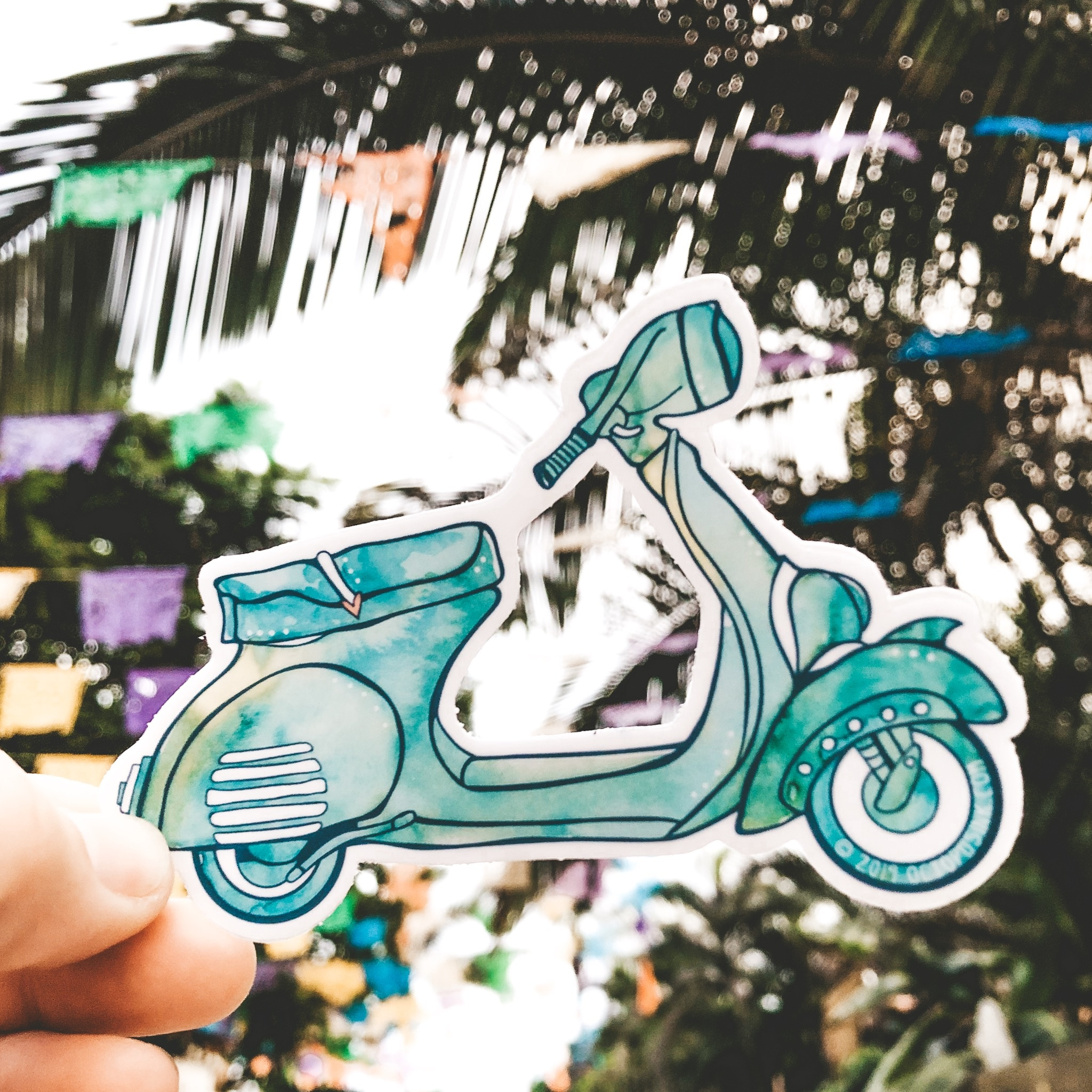 Vespa Turquoise- Decal