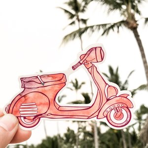 Vespa Coral- Decal