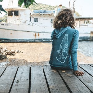 Happy Whale (Teal)- Light Zip, Unisex