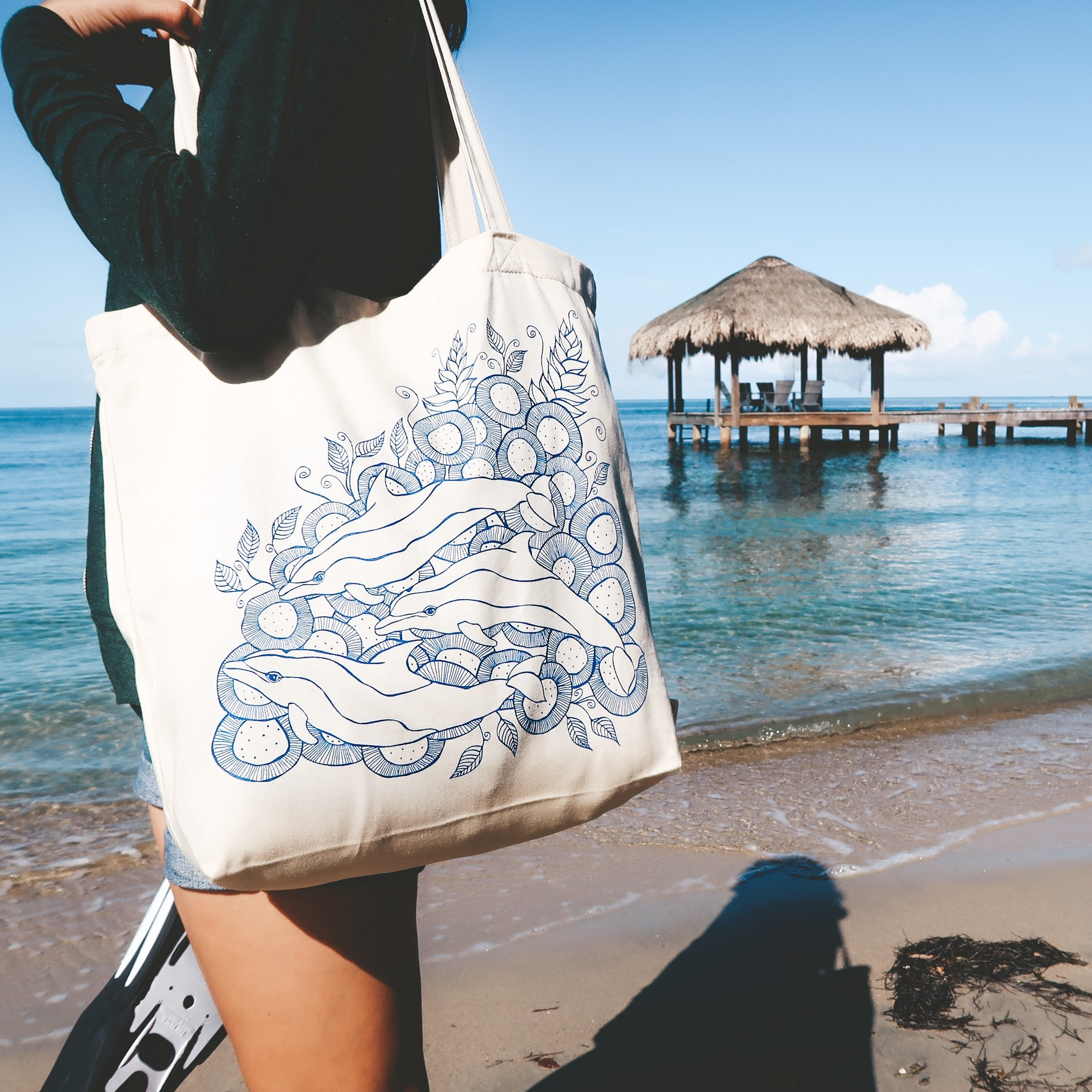 Wild Dolphins- Tote