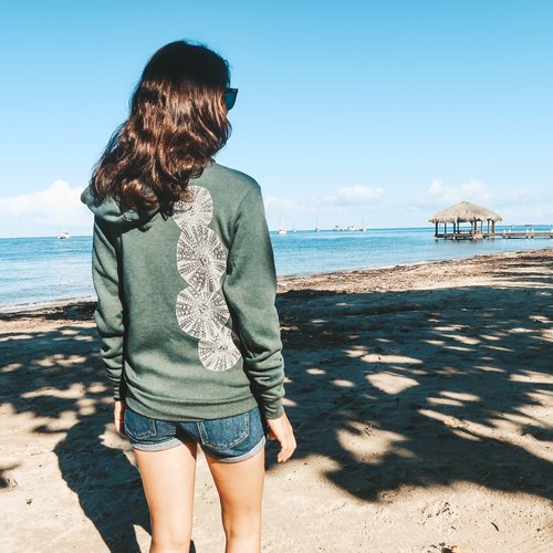 Green Sea Urchin- Fleece Zip, Unisex