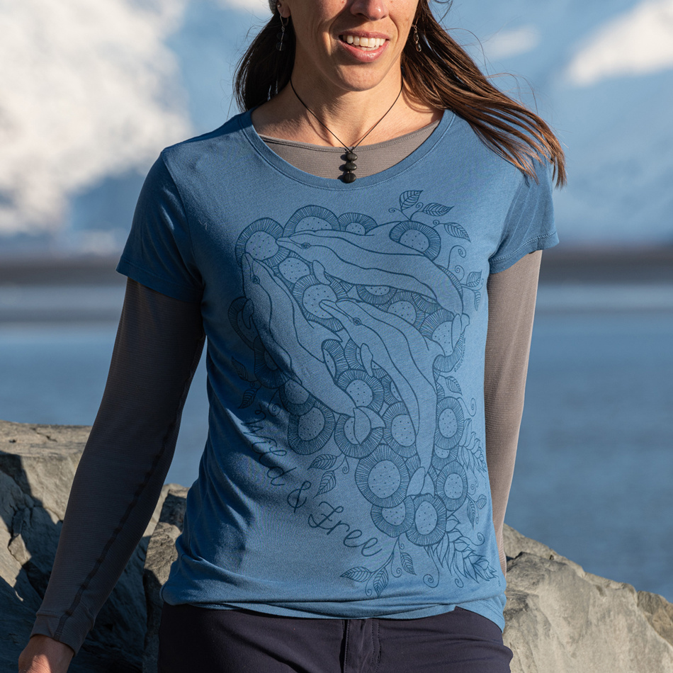 Wild Dolphins - Classic Fit Ladies Tee