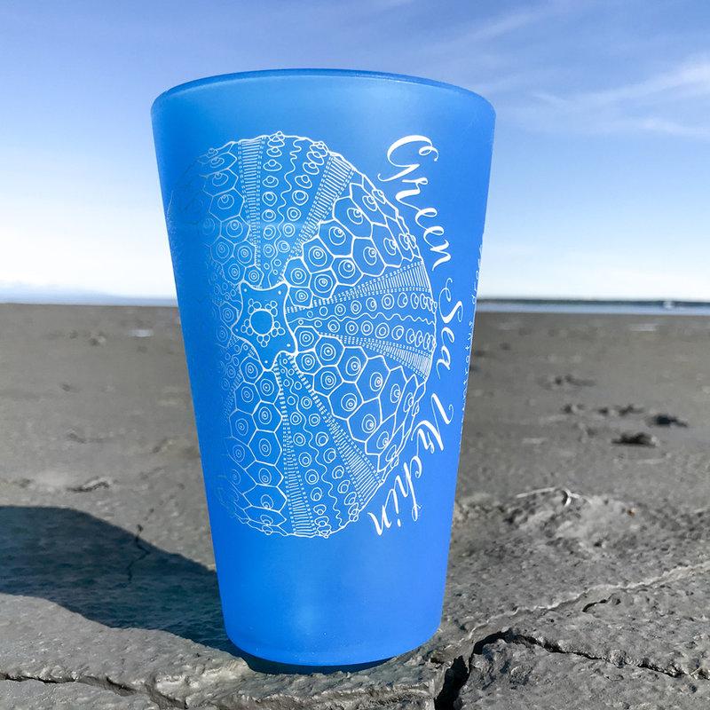 Green Sea Urchin (Blue)- Pint