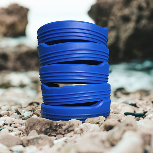 Silicone Travel Lid- Blue