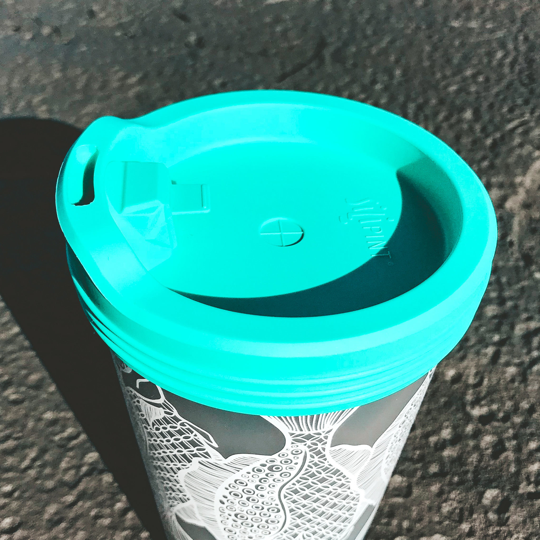 Silicone Travel Lid- Turquoise