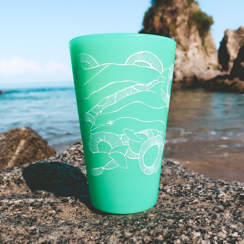 Wild Dolphins (Turquoise)- Pint