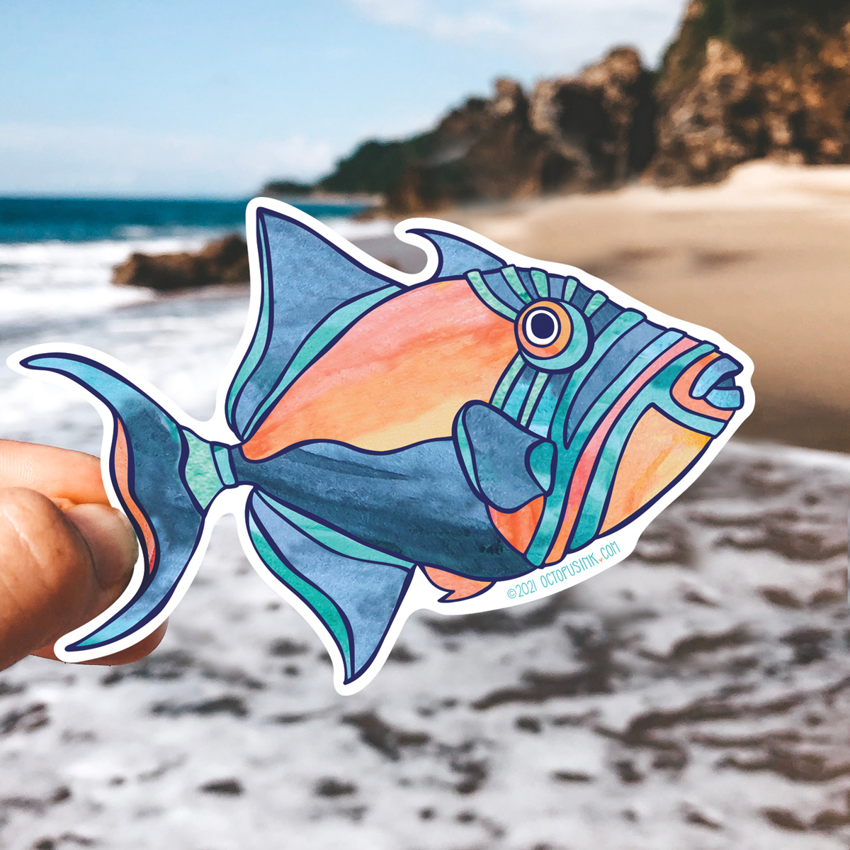 Queen Triggerfish- Decal